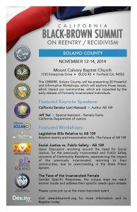 Solano County Black-Brown Summit 2014