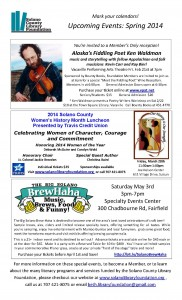 Upcoming events Spring 2014