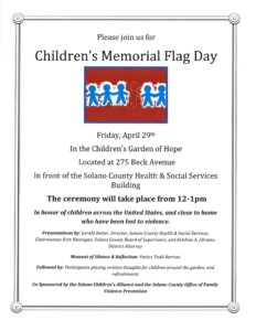 Children's Memorial Flag Day 2016 in Solano County