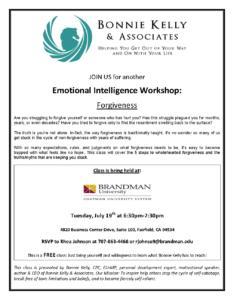Emotional Intelligence Workshop on Forgiveness